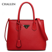 Red Business Luxury PU Large Handbags Fashion Lady Women Bags Messenger Bags European Handbag Brands Makeup Bags Womens Solid