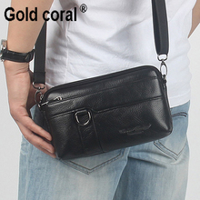 100% Cow Skin Soft New Men's Genuine Leather Vintage Bags Fashion Sling Messenger Bags Men Leather Waist Bags