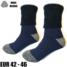 Merino Wool Men's Winter Thick Thermal Socks Plus Size Full Cushion Warm Mens Crew Work Socks EXWSM006C(China)