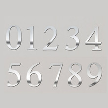 Silver/Gold Number Stickers For Tables/Seats Card Guiding Place Wedding Table Centerpieces Party Supply Decorative Accessories