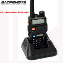 1pcs Baofeng uv 5r Walkie Talkie 5W Dual Band Portable Radio with UHF&VHF UV 5R 136-174MHz 400-520MHz CB Radio baofeng uv-5r(China)