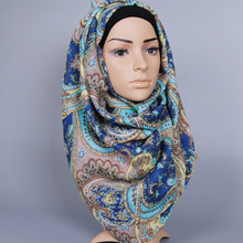 Muslim Modal shawl wrap Hijab Cap Islamic Head Wear Hat Underscarf Colorful Flower decorate Arabic Luxury brand scarf