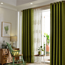 byetee Green Cotton Linen Window Curtain Livingroom Curtain Bedroom Tulle Blackout Curtains For Living Room Cortinas Cortina