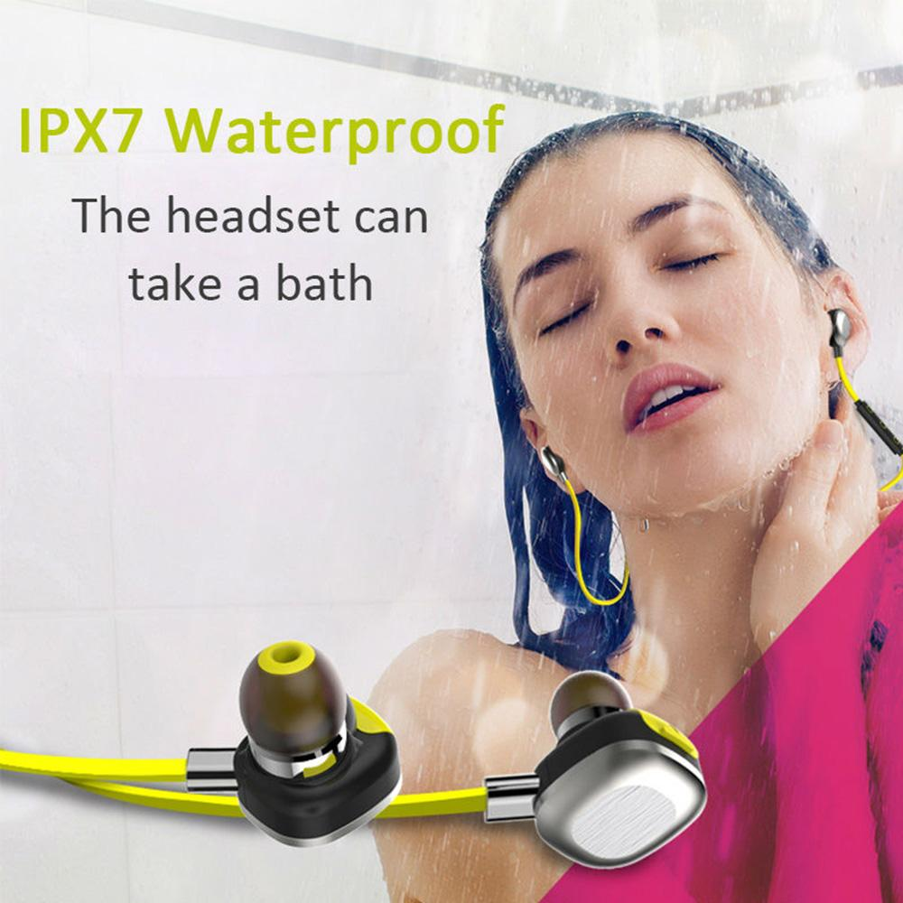 IpX7 Waterproof Sweatproof Bluetooth Headphone Magnetic Fixing Wireless Sport Piston Headset With Microphone For IPhone Android