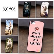 Game of Thrones I'm Not a Princess I'm a Khaleesi case for iphone X 4 4s 5 5s 5c SE 6 6s 6 plus 6s plus 7 7 plus 8 8 plus(China)