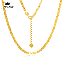 18K gold necklace Pterisaur necklace color gold clavicle necklace adjustable heart core tail gold necklace female models classic(China)
