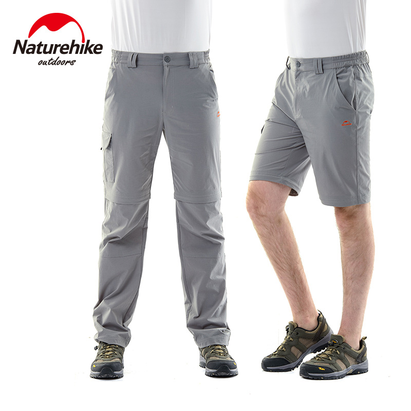 NatureHike 2016 Quick Dry Sport Pants For Men Sportwear Removable Design Durable Hiking Running Men Clothing S M L XL XXL XXXL<br>