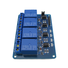 4 way relay module expansion board with optocoupler support AVR/51/PIC microcontroller