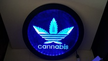 Cannabis weed hemp High Life RGB led Multi Color wireless control beer bar pub club neon light sign Special gift(China)