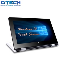 Touch Screen Ultrabook 4G RAM 64G SSD CPU Intel 4 Cores Windows 10 Laptop Bluetooth Office White AZERT Spanish Russian Keyboard