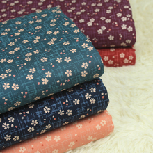 half yard export Japanese soft breeze pure cotton floral fabric, handmade DIY patchwork bag garment dress sewing cloth CR-A37
