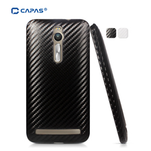 Original CAPAS 3D Case for ASUS Zenfone 2 ZE551ML ZE550ML 5.5 Cover Case Carbon Fiber Pattern Protective Shell Housing(China)