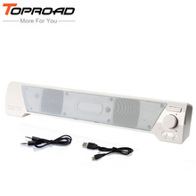 TOPROAD Wireless Bluetooth Speaker Soundbar HIFI Box Subwoofer Boombox Stereo TF M MIC Hands-free Party Home Theatre PC Speakers(China)