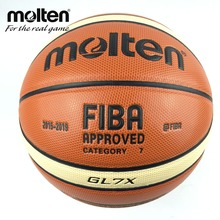 2015-2019 Official Molten GL7X  Basketball Size 7 PU Leather Basketball Ball Training Basket Ball Equipment Free Net + Needle