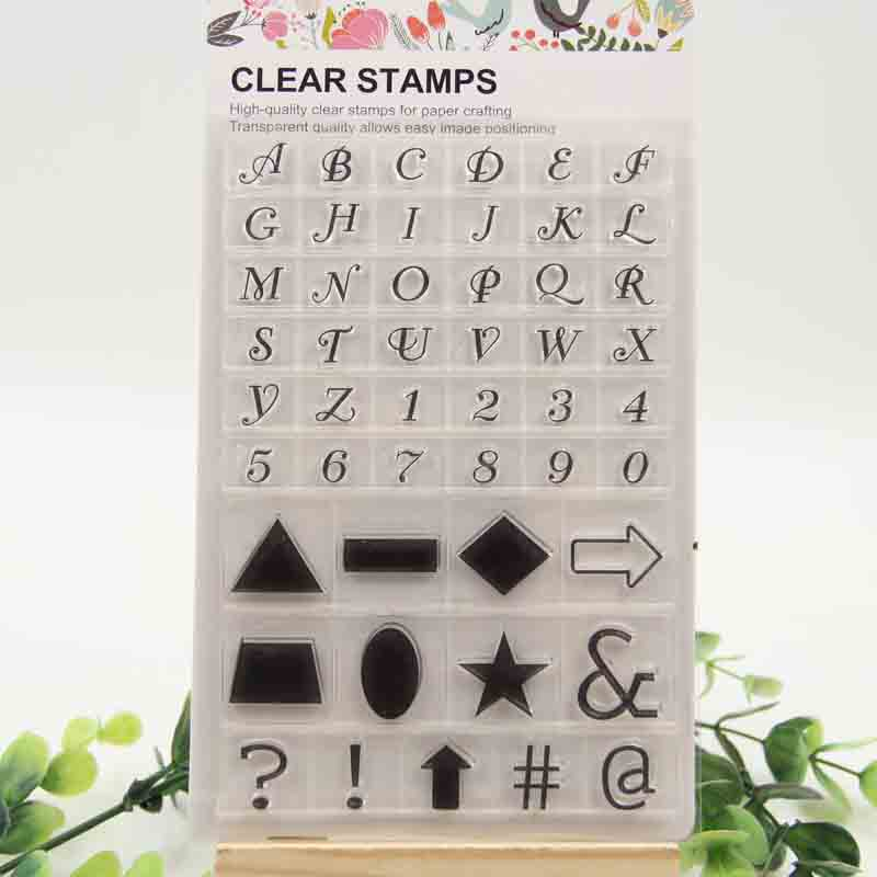 1 sheet DIY Letter Symbols Design Transparent Clear Rubber Stamp Seal Paper Craft Scrapbooking Decoration<br><br>Aliexpress