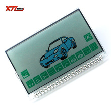 New arrival free shipping Russian version A8 lcd display for starline A8 lcd remote two way car alarm system(China)