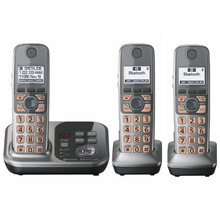 3 Handsets KX-TG7731 1.9 GHz Digital wireless phone DECT 6.0 Link to Cell via Bluetooth Cordless Phone with Answering system
