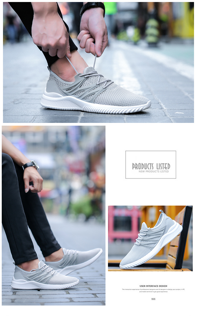 2018 New Arrivals Men's Fashion Summer Casual Shoes Man Sneakers Breathable Trainers Male Footwear Adult Krasovki Plus Size 45 53 Online shopping Bangladesh