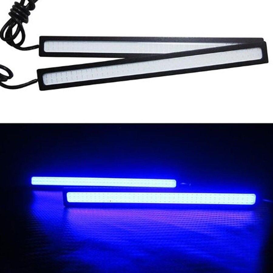 2x Super Bright Blue Car COB LED Lights DRL Fog Driving Lamp Waterproof DC 12V 17CM<br><br>Aliexpress