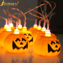 High Quality 5m 20pcs Halloween Pumpkin Night Light Led Pumpkin String Light Lamp Decoration Props For Party Halloween