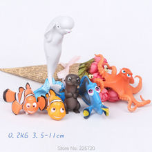6pcs/set 2016 Movie Product Finding Nemo/Finding Dory Figures Charlie Nemo Jenny Marlin PVC Figure Model Toys