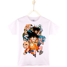 2017 New Arrival Dragon Ball Children's Printed Cotton T-shirt Son Goku Kids T Shirt Boys Baby Tops Girls Clothes Free Shipping