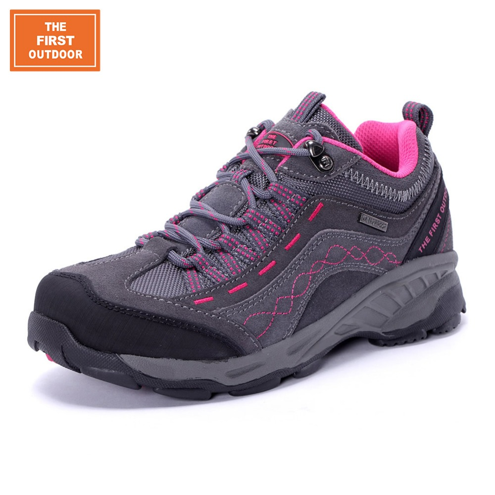 TFO Women Breathable Waterproof Hiking Shoes Trekking Shoes Leather Antiskid Cushioning Climbing Sneakers Outdoor Shoes 844556<br><br>Aliexpress