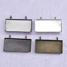 Buy 10pcs Fit 25*50mm Glass Antique Bronze Rectangle Blank Tray Pendants Bezel Cabochon Settings Tray DIY Jewelry Findings for $3.61 in AliExpress store