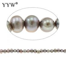 Potato Cultured Freshwater Pearl Beads for making diy Jewelry grey, 6-7mm, Hole:Approx 0.8mm, Sold Per Approx 14 Inch Strand(China)