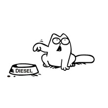 "20*9.9CM Simon's Cat ""Feed Me!"" Hungry Fuel Cap Car Sticker Classic Car Styling Decoration Decal C4-0734(China)"