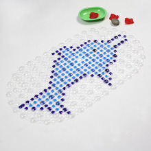 Cartoon Dolphins Anti-slip PVC Bath Mat Bathroom Safety Non-slip Suction Cups Carpet Bath Shower Floor Cushion Rug Bathmat