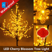 Luxury Handmade Artificial LED Cherry Blossom Tree night Light Christmas new year wedding Decoration Lights 150cm 480 LED(China)