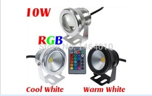 10W 12V RGB Cool White Warm White LED Underwater Light Lamp IP68 Diving Flashlight For Swiming Pool Piscina Aquarium Fountain