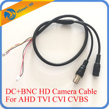 55cm 5 Pin Analog BNC F Video & DC Jack female cord CCTV AHD TVI CVI 1080P Camera Power HD black Cable/Lead