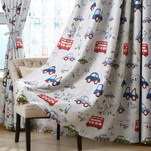 Cartoon Car Printed Off Window Blinds kids blackout curtains Panels Ornament curtains for kids room Decor WP146#20