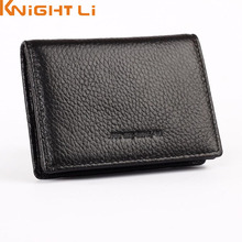 New genuine leather famous designer brand business bank credit Card holder bag case membership card wallet N238 drop shipping(China)