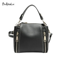 FuAhaLu New female bag Korean Messenger small package chain bag bucket bag thick line shoulder bag