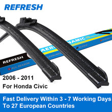 REFRESH Wiper Blades for Honda Civic 8th Generation International Model / North America Model 2006 2007 2008 2009 2010 2011(China)