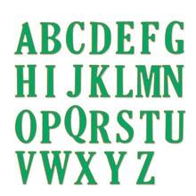 26 шт./компл. 5 см большой буквы Z Алфавит из металла Штанцевые формы трафарет для DIY Скрапбукинг фотоальбом Тиснение Бумага карты Craft(China)