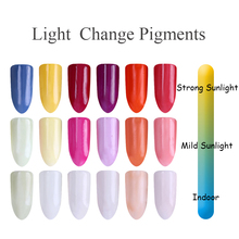 1g Sunlight Sensitive Powder Color Changing Nail Glitter Powder UV Light Photochromic Pigment Manicure Tips Decoration