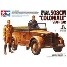 OHS Tamiya 37014 1/35 Italian German 508CM Coloniale Staff Car Hobby Military Assembly AFV Model Building Kits(China)