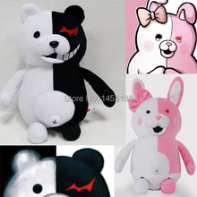 New Arrival 35cm Dangan Ronpa Monokuma Doll Plush Toys Black & White Bear Pink & White Rabbit Top Quality 1pc Free Shipping