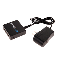 Premium Version Full HD 1x2 Port HDMI Splitter Amplifier Repeater 3D 1080p Female for PS3 with AC/DC Power Adapter
