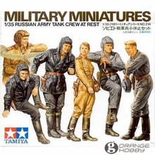 OHS Tamiya 35214 1/35 Russian Army Tank Crew AT Rest Miniatures Assembly Military figures Model Building Kits