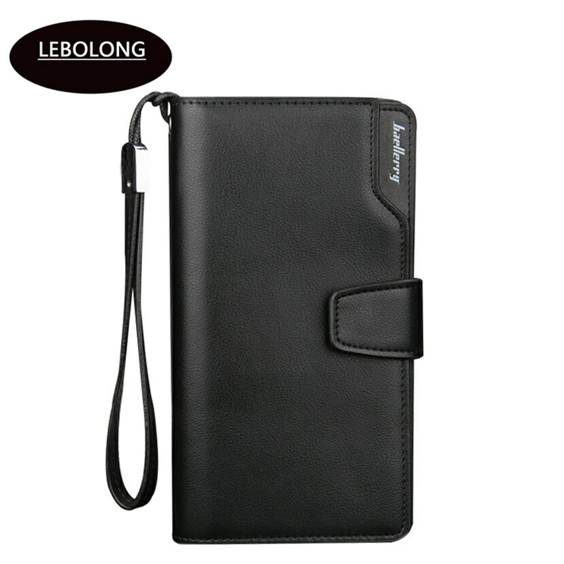 Lebolong 2018 New Purse High Quality PU Leather Wallet Multifunctional Standard Wallets Fashion Casual Male Zipper Notecase    (China)