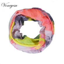 New Fashion Women Infinity Scarf Printed Animal Snood Scarves Tube Bandana Ring Loop For Women 2017 Free Shipping RO1752010