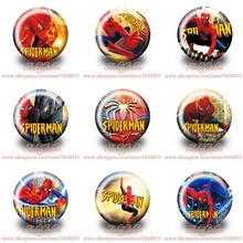 Spider man Cartoon Badges Accessories for Sewing Children's party gift brooch Pins bag tin badge button kid garment Decorations