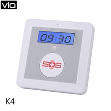 King Pigeon K4 Free Shipping GSM Alarm Home 2 Way Voice Quan Band 16 Wireless Zones SOS Elderly Care Alarm(China)