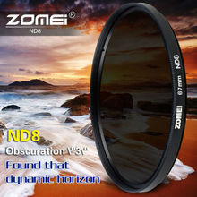 Zomei Slim Neutral Density Filter ND8 ND 2/4 8 52mm 55mm 62mm 67mm 72mm 72 nd filter 77mm for Canon Sony Pentax Dslr Camera Lens(China)