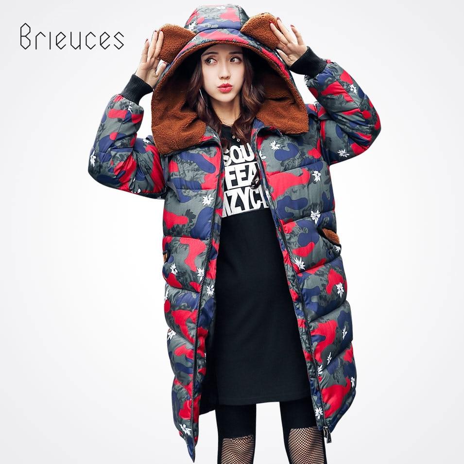 Brieuces New Long Parkas Female Women Winter Coat Camouflage Thicken Winter Jacket Womens Outwear for Women Winter OutwearÎäåæäà è àêñåññóàðû<br><br>